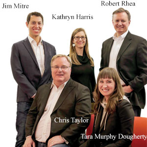 Jim Mitre, SVP, Strategy & Analysis, Kathryn Harris, SVP, Strategy & Growth, Robert Rhea, SVP, National Security Practice, Chris Taylor, CEO and Tara Murphy Dougherty, President, National Security Practice, Govini